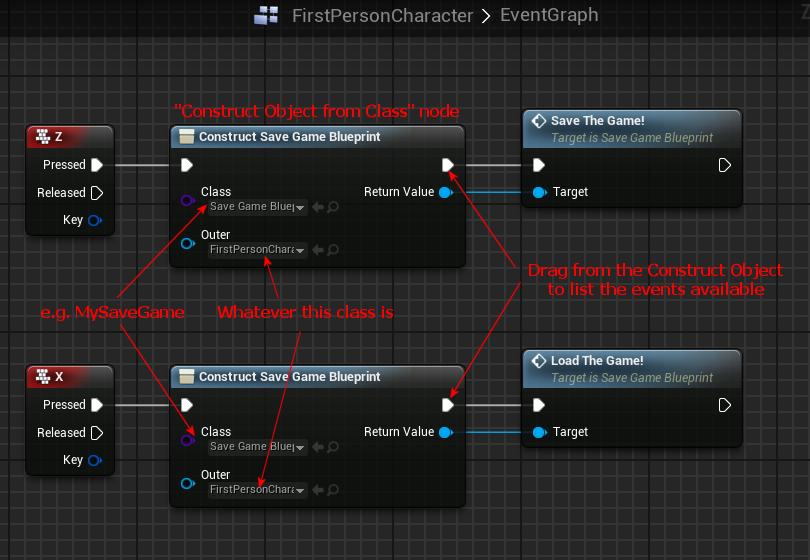 blueprint how to call event character is grounded